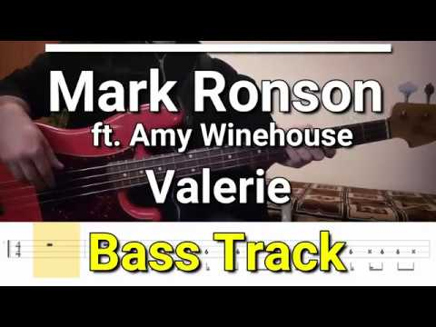 Mark Ronson - Valerie (feat  Amy Winehouse)(Bass Track) TABS