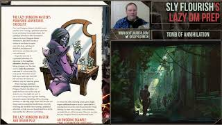 Lazy DM D&D Game Prep: Tomb of Annihilation (23 September 2018)