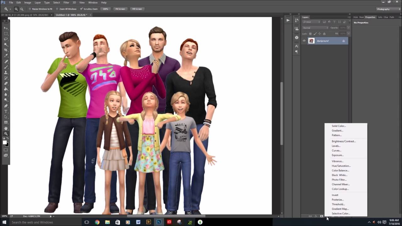 How I Make My Family Pictures in The Sims 4