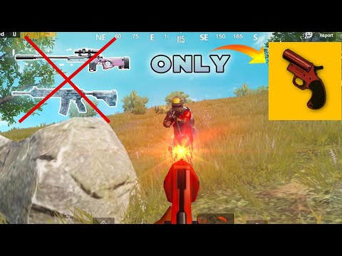 NO Weapons!!! Can I WIN With Flare Gun?   PUBG Mobile