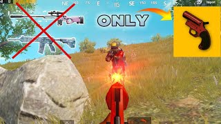 NO Weapons!!! Can I WIN with Flare Gun? | PUBG Mobile