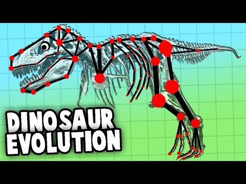 Evolving a Dinosaur!  T-Rex Evolution & Creation! (Evolution Simulator)