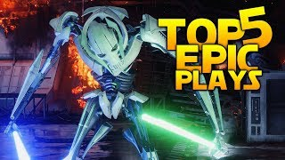 HOW TO HUMILIATE GRIEVOUS: Battlefront 2 Top 5 Plays