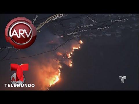 Estremecedor panorama por incendios en California | Al Rojo Vivo | Telemundo