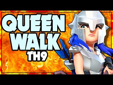 TH9 Queen Walk Is POWER | Clash Of Clans