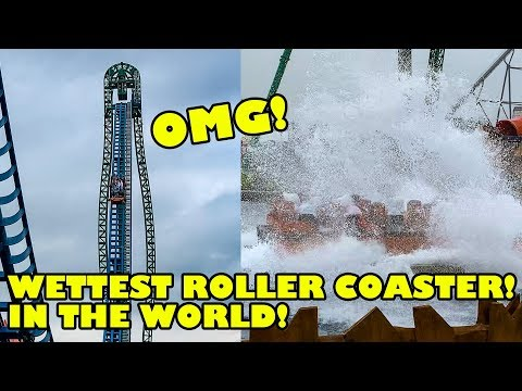 WETTEST Roller Coaster In The World!! Speed Water Coaster 4K POV - Energylandia Poland