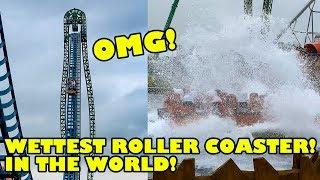 WETTEST Roller Coaster In The World!! Speed Water Coaster 4K POV - Energylandia Poland