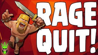 RAGE QUITTING! LIVE FAILS! - TH10 Pushing - Clash of Clans - Laloonion Trophy Pushing thumbnail