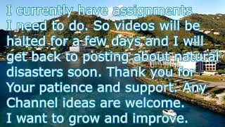 Channel Update - I have assignments at the moment, returning in a few days