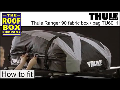 thule ranger 90 fabric roof box youtube. Black Bedroom Furniture Sets. Home Design Ideas
