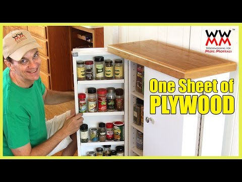 Space Saving Pantry Made From a Single Sheet of Plywood