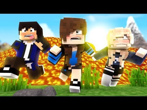 CORRA DO TSUNAMI DE LAVA! - MINECRAFT