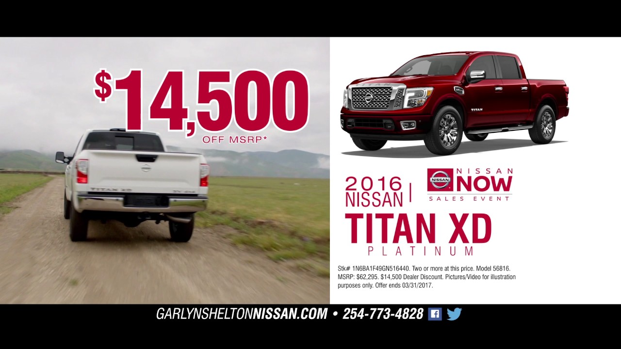 Garlyn Shelton Nissan >> Garlyn Shelton Nissan Tv Ad 2 March 2017 Youtube