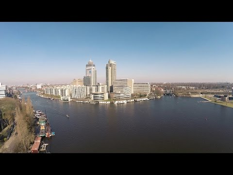 Amsterdam Drone flight with DJI Phantom 2 and a GoPro 3+ BE