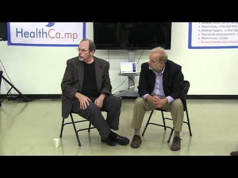 Wiki inventor Ward Cunningham and VistA architect Tom Munnecke at Health Camp Oregon