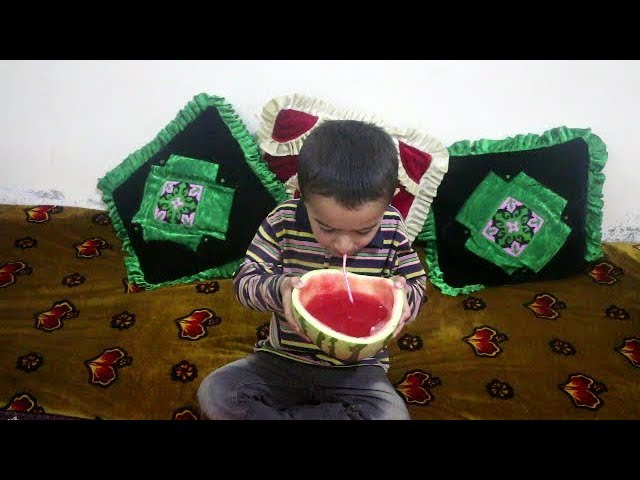 How We Make Watermelon Juice Traditionally In Our Village Watermelon Juice Recipe
