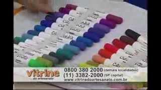 Pintura porcelanizada com Márcia Caires - Vitrine do Artesanato na TV