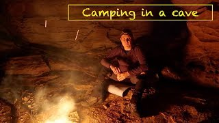 Camping under a natural rock overhang, NSW, Australia