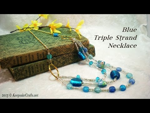 Wire Wrapped Rings Triple Strand Necklace - Video Tutorial