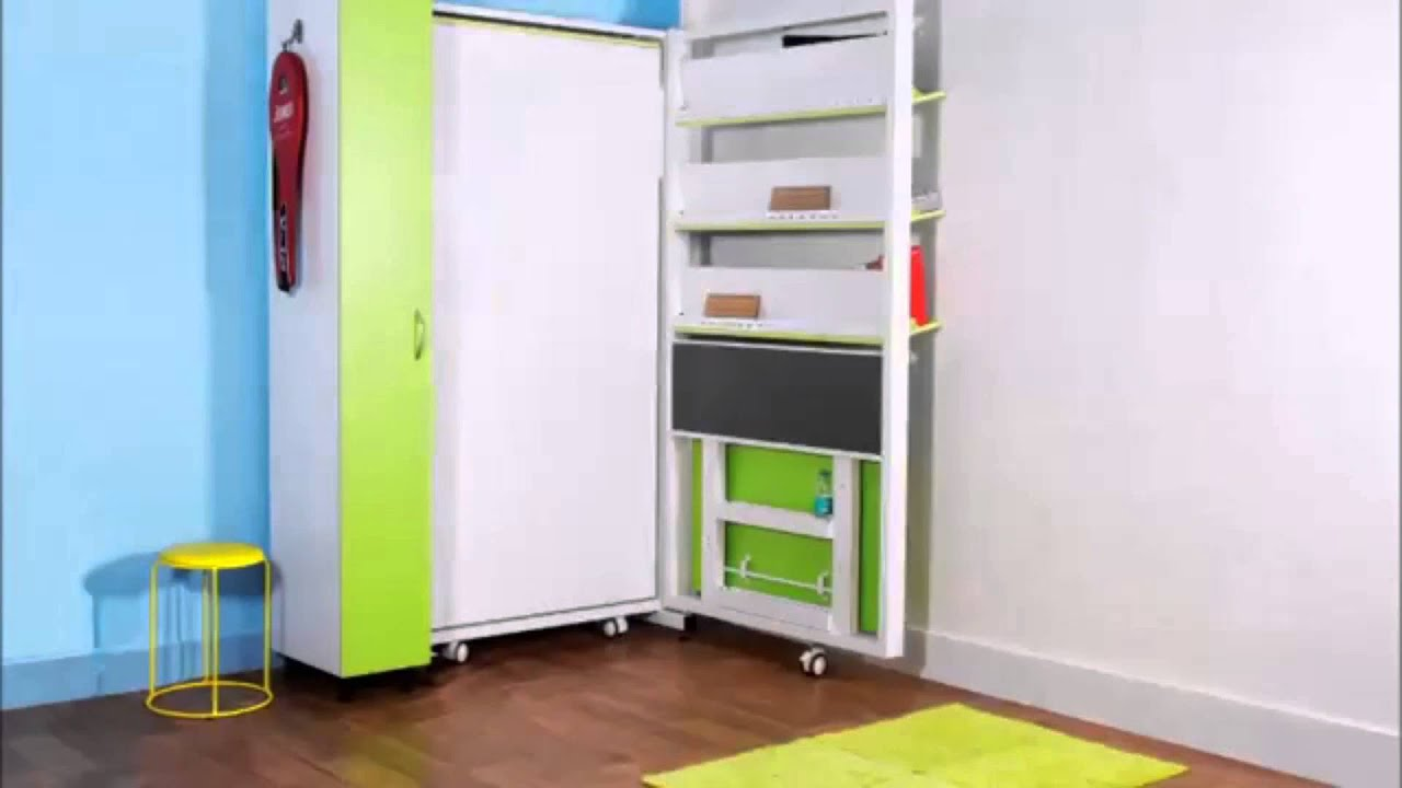 Vertical Single Bed With Study Table And Wardrobe By Prab Space Saving  Concepts   YouTube