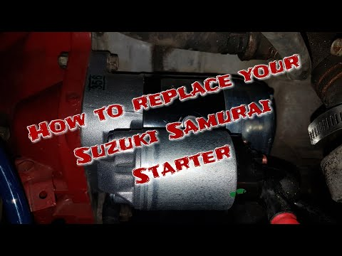 How to install a new Starter on a Suzuki Samurai