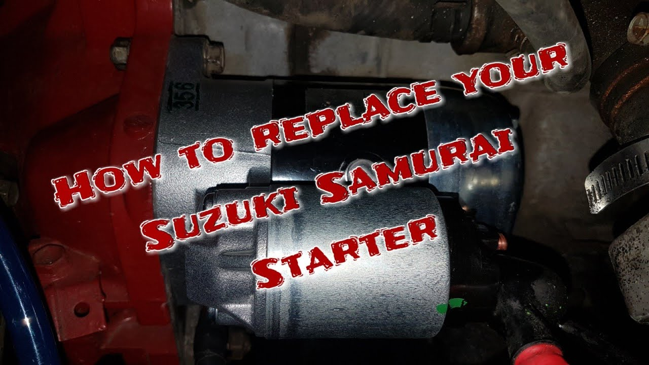 medium resolution of how to install a new starter on a suzuki samurai