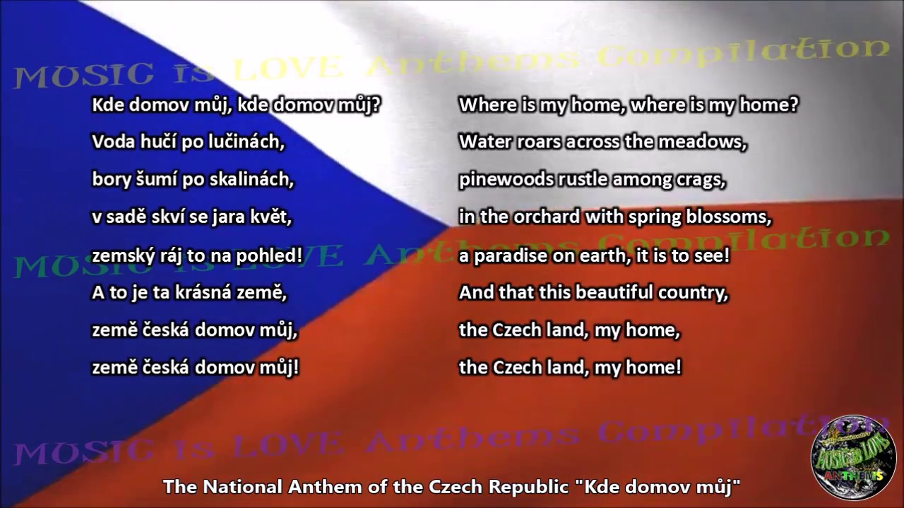 Czech Republic National Anthem With Music Vocal And