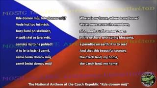 czech republic national anthem kde domov můj with music vocal and lyrics