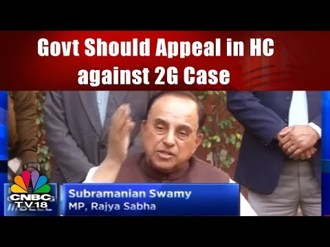 SUBRAMANIAN SWAMY: Govt Should Appeal in HC against 2G Case Acquittal | CNBC TV18