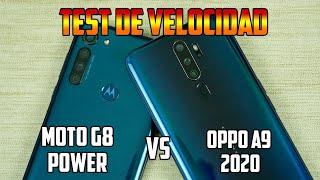 Moto G8 Power Vs Oppo A9 2020 TEST DE VELOCIDAD | Tecnocat