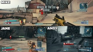 Borderlands 2 Split Screen Xbox One Gameplay 1080 HD - The Handsome Collection