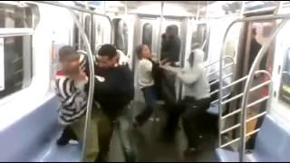 Gang Fight In The Bronx
