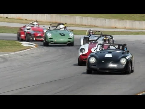 2014 Hsr Mitty Porsche 356 Race With Lotus 7 S Youtube