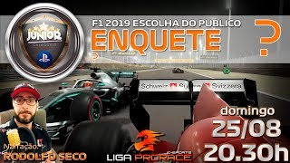 F1 2019 ESPORTS COM ATIVEGAMERS | GP DO BAHREIN 2019 | F1 2019 PS4 JUNIOR | LIGA PRO RACE ESPORTS