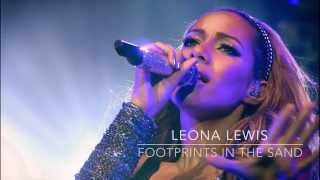 Footprints in the sand Leona Lewis piano instrumental lyrics