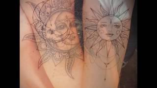 Значение тату солнце и луна — классные примеры готовых татуировок (видео)