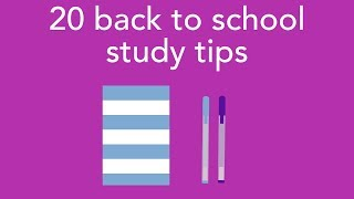 20 back to school study tips
