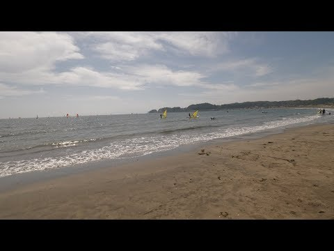 【4K】Walking at Kamakura beach