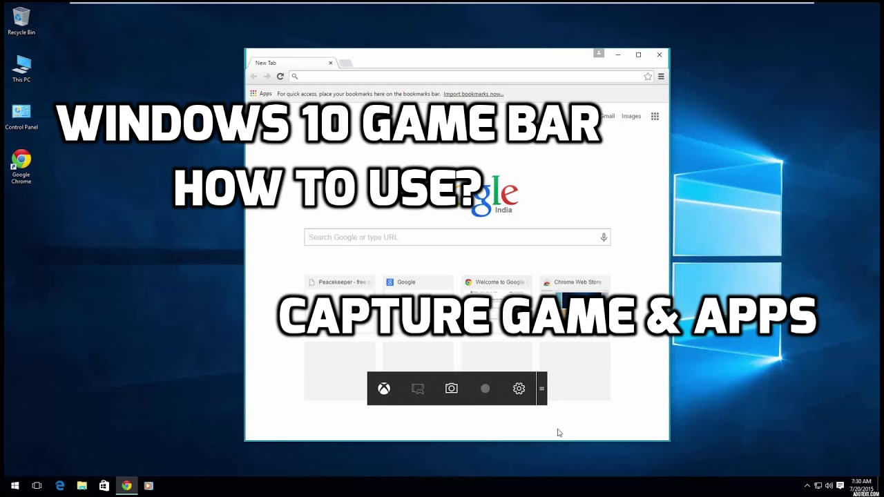 Windows 10 Game bar How to use?