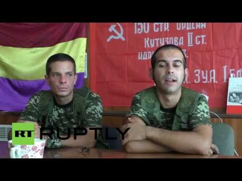 Ukraine: Meet the Spanish volunteers fighting Kiev