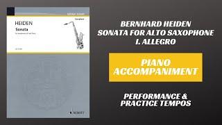Bernhard Heiden – Sonata for Alto Saxophone, mvt. I (Piano Accompaniment)