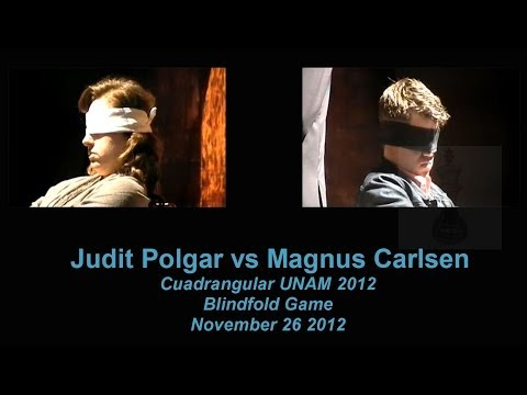 ♚ Judit Polgar vs Magnus Carlsen Blindfold Chess Game/ Playchess.com