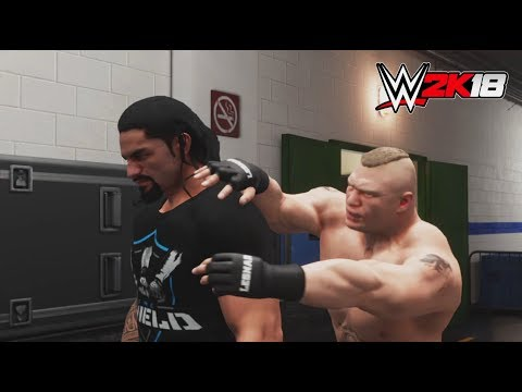 WWE-2K18-Brock Lesnar vs.Roman