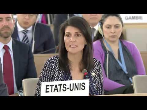 Nikki Haley, USA, at Human Rights Council