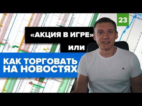 Как торговать на новостях ?   Акции Газпрома