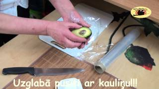Kā var uzglabāt pusi avokado.How can you stored half an avocado