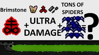 The Binding Of Isaac: Rebirth - INSANE BRIMSTONE DAMAGE + SPIDER KING - SICK COMBOS Ep. 15