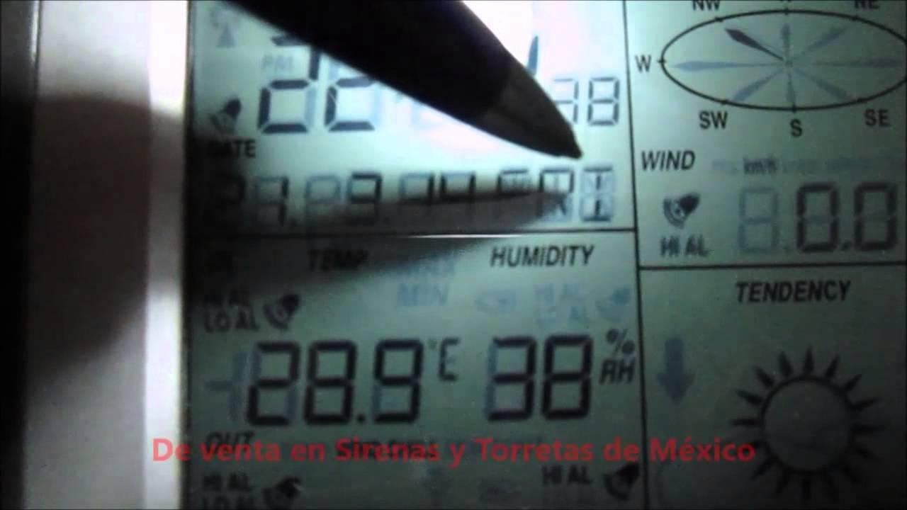 ff124057c ESTACIÓN METEOROLÓGICA DIGITAL PROFESIONAL SIRYTOR - YouTube