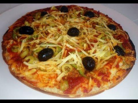 pizza-liquide-à-la-poêle-express-بيتزا-سائله-في-المقلاه-سهله-وسريعه