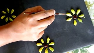 Best of Waste- Craft for kids, Chiku fruit seeds